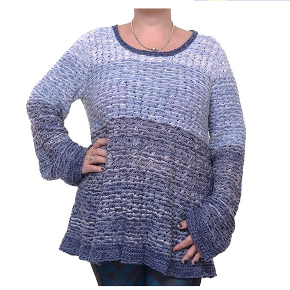 Style /& Co Women/'s Blue Patchwork Heart Top Size XS XL NWT